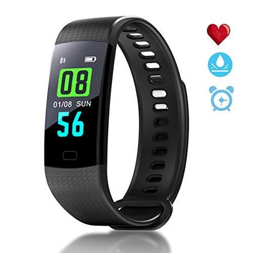 Hastrono Fitness Armband, Wasserdicht IP67 Fitness Tracker, Pulsmesser Smartwatch Aktivitätstracker Schrittzähler, Blutdruck Sportuhr Damen Herren Anruf SMS Vibrationsalarm für iPhone Android