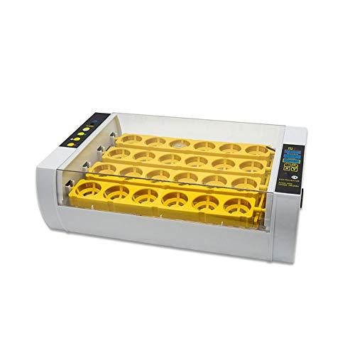Incubatrice per uova, incubatrice a controllo intelligente digitale con rotazione automatica delle uova Calore uniformemente Tratteggio Pollo Quaglia Tacchino e altro, 24 uova