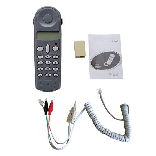 Exanko Conjunto de cable herramienta de prueba probador de atraque de instalador de lineas de telefono