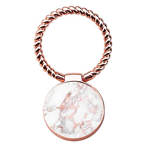 Finger Ring Stand,uCOLOR 360° Rotation Cell Phone Grip Mount Kickstand Holder for Smartphones and Tablet (Rose Gold Marble)