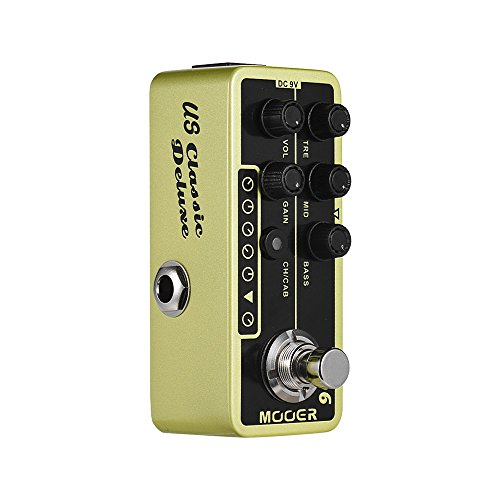 MOOER 006 Deluxe American Blues Combo Digital Preamp Preamplifier Guitar Effect Pedal MICRO PREAMP Series True Bypass