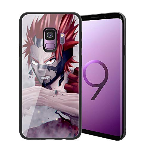  for Galaxy S9  Ultra-Thin Anti-Scratch Tempered Glass Phone Case, Japanese Game Animation My Hero Academia Design 226 Galaxy S9 Cover for Teens and Adults
