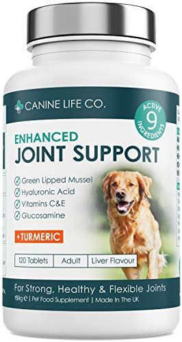 Dog Joint Supplements | Dog Anti Inflammatory Support | Joint Aid For Dogs | Enhanced With Turmeric For Dogs, Glucosamine For Dogs & Green Lipped Mussel | 120 Chewable Tablets | Made In The UK