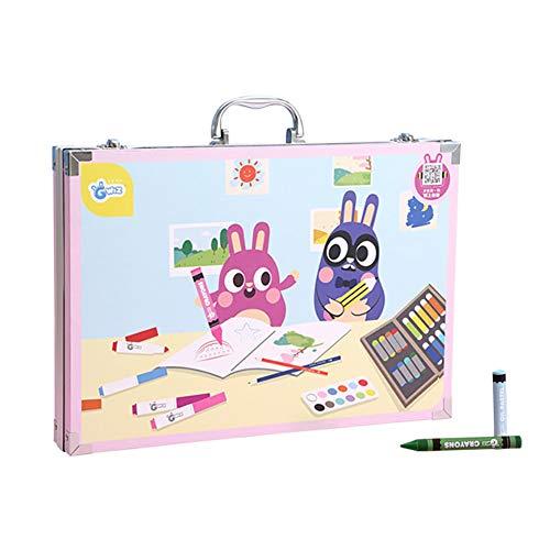 SLCE 102 Pcs Conjunto De Dibujo De Arte, Creatividad Art Set para Niños Dibujo Y Pintura, Lapices De Colores Niños, Conjunto De Pintura, Estudiantes Papelería Suministros Niños Regalos