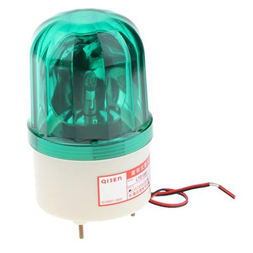 Homyl 24V Petit Rond Rouge Clignotant Lumières D'alarme Vert