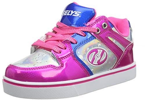 Heelys Mädchen Motion 2.0 He100587 Sneaker, Mehrfarbig (Pink/Silver/Aqua Pink/Silver/Aqua), 32 EU
