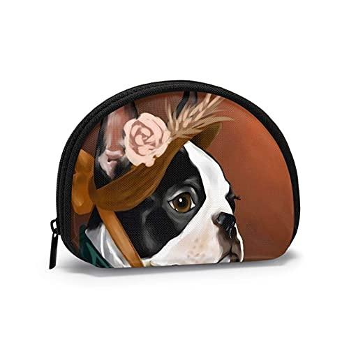Bulldog francese Retro casalinghe Borsa per il cambio a tema stampato divertente Borsa carina per conchiglia Portafogli per ragazza Bule Portamonete Portachiavi Gifys Donna Novità