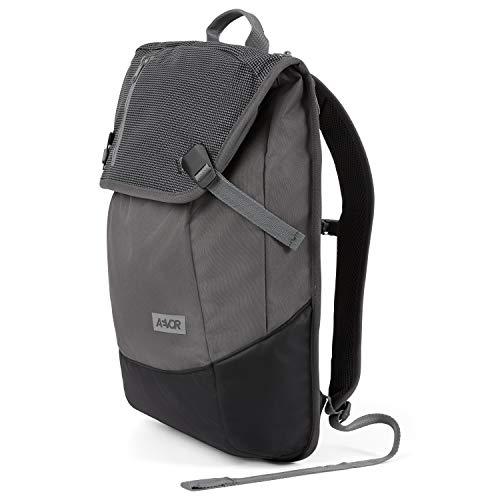 AEVOR Daypack - erweiterbarer Rucksack, ergonomisch, Laptopfach, wasserabweisend - Echo Black - Black