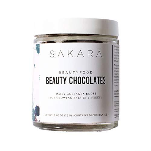Sakara Beauty Chocolates - Plant Collagen Boost & Skin Rejuvenator, Gluten-Free, 30 Count…