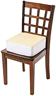 Comfort Finds Rise with Ease Seat Cushion - Thick Firm Chair Cushion Booster - Extra Thick Foam Pad for Home, Patio, Office and Car Seats - Extra Supportive Lift - 14 X 14 X 5 (Sherpa Cream) …