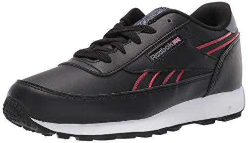 Reebok Boys' Classic Renaissance Running Shoe, Black/Rebel Red/Cold Grey, 12 M US Little Kid