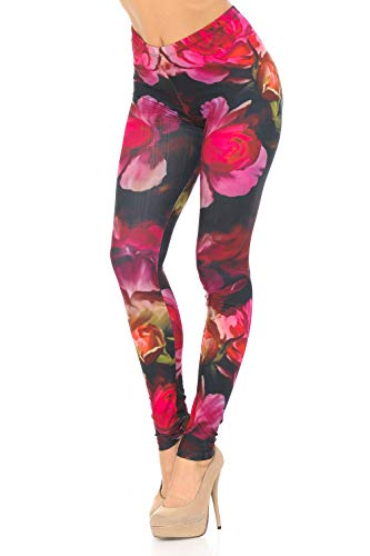 World of Leggings Rose Petal Bloom Leggings