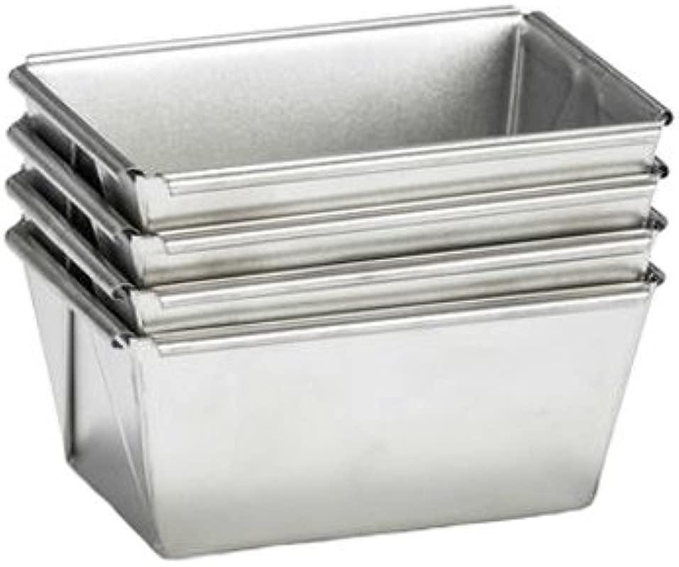 Patisse 02579 Mini Loaf Pan Set 3 1 2 Metallic