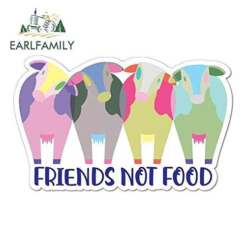 A/X 13cm x 8.1cm Für Freunde Nicht Essen Vegan Vegetarisch Auto Aufkleber Und Abziehbilder Cartoon Sonnencreme DIY Okklusionskratzer