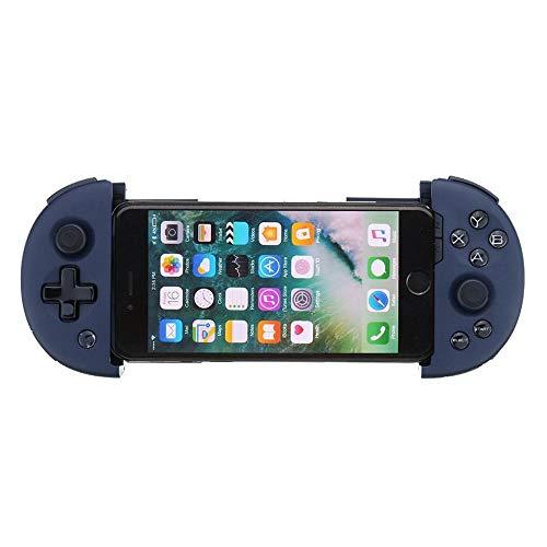 YAzNdom Gamepad PUBG Réglable Téléphone Bluetooth Clip Gamepad Game Controller for iOS Android Mobile Navy Convient Aux Jeux (Color : Blue, Size : One Size)