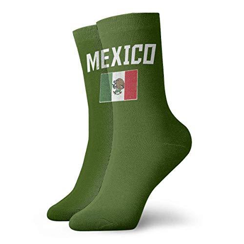 JONINOT Calcetines deportivos casuales de algodn con bandera de Mxico para hombres Calcetines de ancho 8.5CM X L30CM