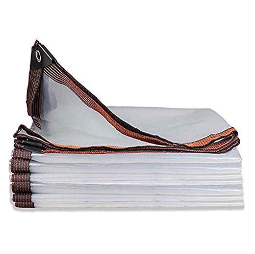 ZHANGYUQI Lona Impermeable Transparente, Lona Antidesgarro Y Antienvejecimiento para Tienda Al Aire Libre, Cubierta De Hoja para El Suelo, Orificio De Metal, Lona Plegable(Color:Claro,Size:5X10m)