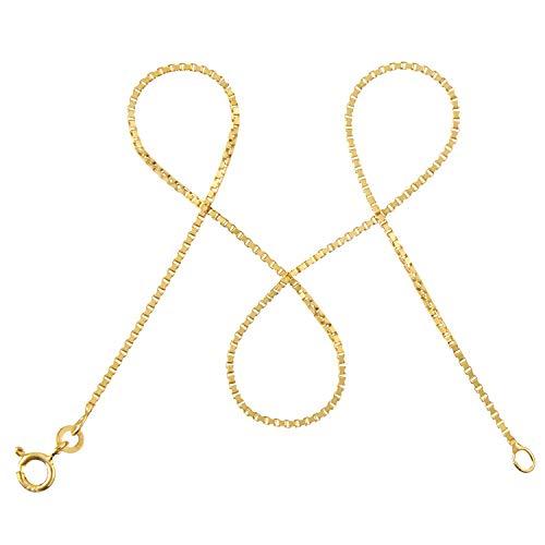 modabilé Damen Venezianerkette aus 333er Gold (45cm I 1,2mm breit) I Goldkette 333 ohne Anhänger I Zarte Halskette für Frauen I Echtgold Kette + Etui I Goldkettchen Produziert in Deutschland