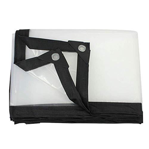 ZLININ Y-longhair - Lona transparente para exteriores, 120 G/M2, reversible, impermeable, reforzada, resistente al desgarro, impermeable, para caravana (tamaño: 2 × 6 m)