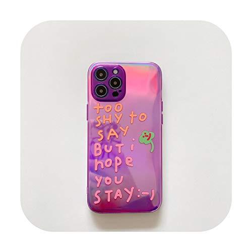 Linda moda fluorescentes letras inglesas alentadoras palabras teléfono caso para iPhone 7 8 Plus 11 12 Mini Pro X Xs Max Xr Fundas-5-para iPhone 11