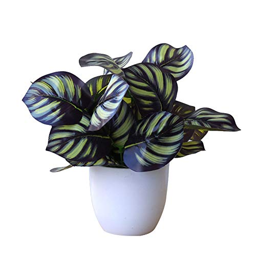 Brussel Artificial Potted Bonsai Decorative Foliage Plant Fake Pot Plants Ornaments Desktop Greenery Decor for Indoor Home Office 2#