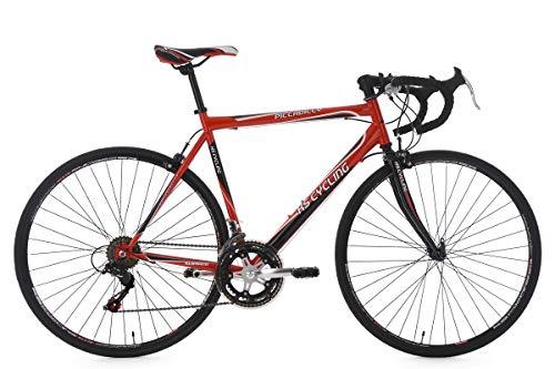 """KS Cycling Piccadilly 260B - Bicicleta de carretera, color rojo, ruedas 28"""", cuadro 55 cm"""