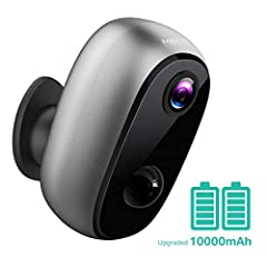 🔋【10000mAh Large Capacity Battery】This rechargeable wifi camera comes with 10000mAh battery which can wake up 1400 times when fully charged. Compatible with MECO Solar Panel, and enables the easy installation and usage outside . (Tips: Please FULLY C...