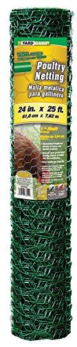 Yard Gard 308452B 24' x 25' 1' Mesh PVC Coated Green Poultry Netting