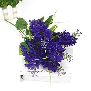 KEMEILIAN Romantic Provence Decoration Artificial Lavender Flower Fake Silk Flowers Wedding Party Garden Decor Plastic Branch Lavenders