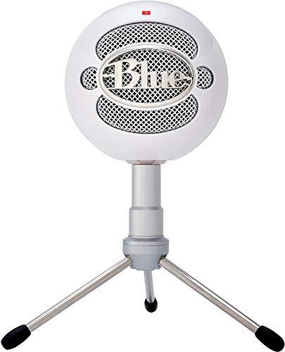 Blue Snowball iCE - Micrófono (PC, Cardioid, 16 Bit, Alámbrico, Color blanco, USB)
