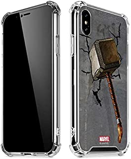 Skinit Clear Phone Case for iPhone Xs Max - Officially Licensed Marvel/Disney Mjolnir Hammer of Thor Design