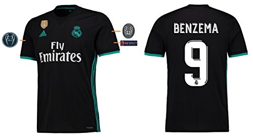 Trikot Herren Real Madrid 2017-2018 Away UCL - Benzema 9 (L)