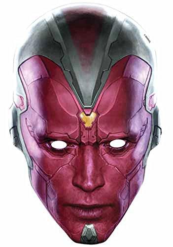 The Avengers-Vision Empire Masque en Carton de Elizabeth II avec Trous pour Les Yeux et élastique-Taille : env. 30 cm x 20 cm
