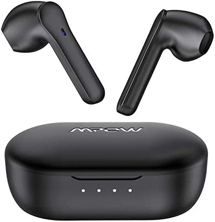 Wireless Earbuds Mpow MX1 Bluetooth Headphones w Wireless Charging Case USB C Charge 4 Mics product image