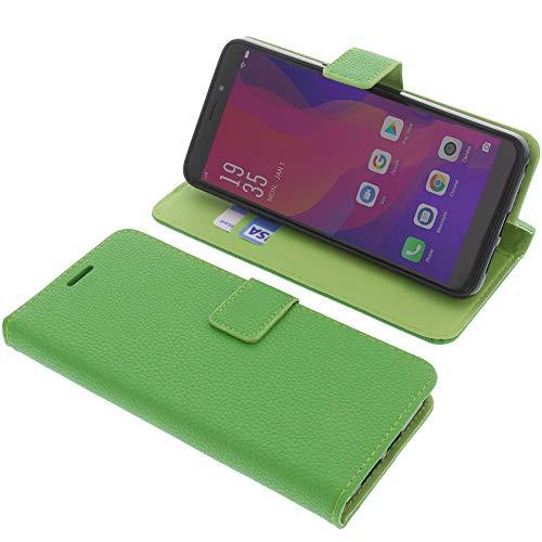 foto-kontor Tasche für Vernee X2 Book Style grün Schutz Hülle Buch