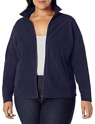 Amazon Essentials Women's Plus Size Full-Zip Polar Fleece Jacket, Navy, 3X