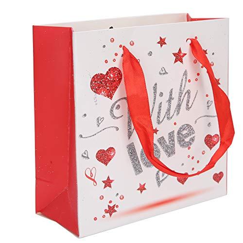 SALUTUYA Sac d'emballage présent, Sac de Papier de Fournitures de fête en Papier, Sac de Papier Portable à la Mode, Stockage de Cadeaux pour Bonbons pour la fête de Mariage de Bijoux