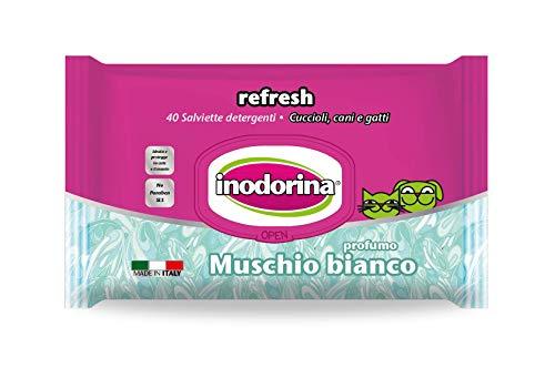 Inodorina Toallitas Refresh Musgo Blanco, 40 Unidades