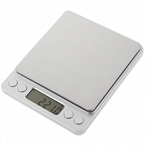 Básculas de peso electrónicas portátiles 500g Mini básculas de precisión Báscula de cocina digital con 2 bandejas 0.01g Balanza de pesaje de joyería