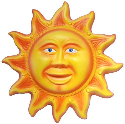 ARTEPACO - Sonne, Wanddekoration, Keramik, Verschönerung für Haus und Garten, Durchmesser 30 cm