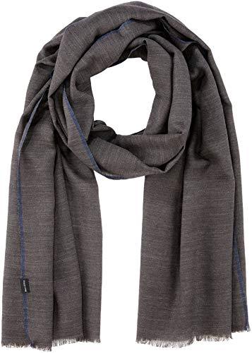 Marc O'Polo Herren 827803002274 Schal, Grau (Dark Grey Melange 989), One Size (Herstellergröße: OSO)