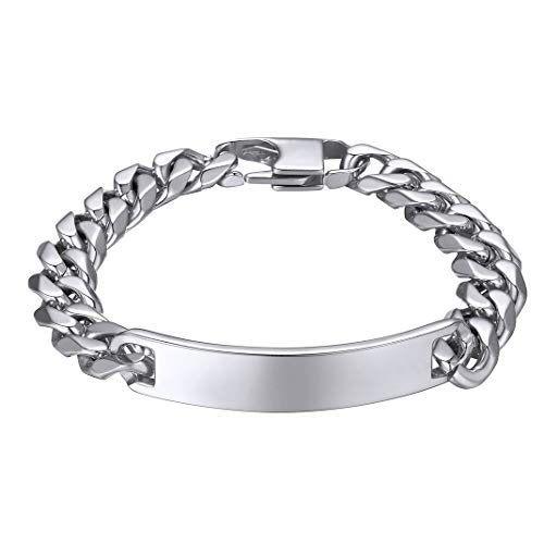 GOLDCHIC JEWELRY Stainless Steel Customizable Bracelet for Man, 21cm Chains