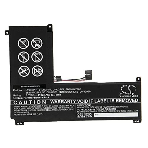 vhbw Batería Recargable reemplaza Lenovo L19C2PF1, L19L2PF1, L19M2PF1, SB10W42962 para Notebook (4100 mAh, 7,5 V, polímero de Litio)