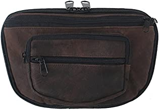 LARGE - Concealed Carry Fanny Pack RUGGED ULTRA-SOFT SUEDE LEATHER-Brown