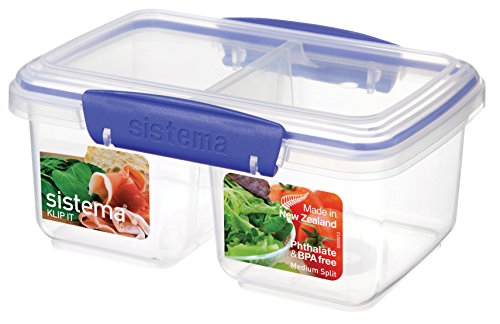 Sistema SI1620 Boîte Alimentaire Split 1l, Plastique, Multicolore, 45x35x25 cm