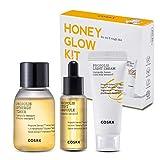 COSRX Honey Glow Kit | Propolis Synergy Toner, Ampoule, Cream | Moisturizing, Hydrating, Nourishing