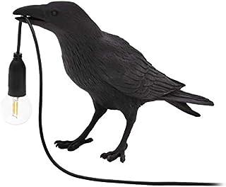Sponsored Ad - Crow Table Lamp, Birds LED Table Lamps Bedroom Resin Raven Desk Lamp Bedside Light Living Room Corridor Con...