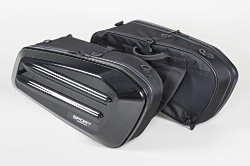 タナックス (TANAX) サイドバッグ モトフィズ(MOTOFIZZ) スポルトシェルケース ブラック (容量36ℓ 片側18ℓ)...