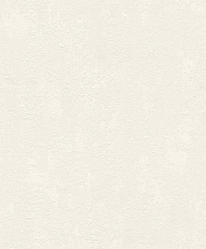 Rasch 809435 Carta da Parati, Bianco, 10.05 m x 0.53 m