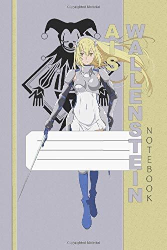 Ais Wallenstein Notebook: Danmachi, Ais, 112 Lined Pages, 6 x 9 in, Anime Notebook Diamond